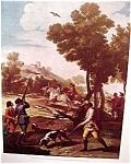 Hunting Scene By Francisca De Goya Art Print