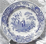 Spode Blue Plate Girl At Well