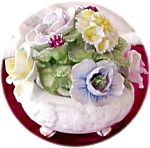 Beautiful Floral Porcelain Bouquet In Bowl, Uk