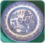 Blue Willow Dinner Plate, Churchill Uk