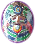 Colorful Pottery Tribal Mask