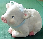 Mexican Hand Crafted Pig, Signed