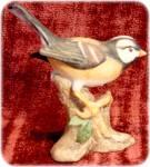 White Crowned Sparrow Bird Porcelain Figurine