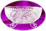 Crystal Three Footed Nut Bowl
