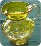 Yellow Kanawha Glass Small Jug