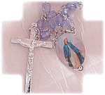 Blue Lucite Beaded Rosary