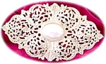 Large Fancy Openwork Bolo Necklace Clasp With Moby Pearl