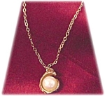 Solitaire Pearl Pendant And Chain