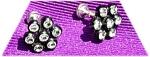 Crystal Rhinestone Earrings In Black Setting