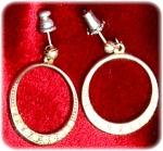 Dangle Hoop Earrings With Rhinestones
