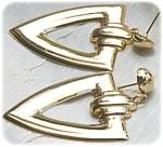 Big Triangular Drop Earrings