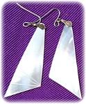 Mop Abstract Shaped Dangle Earrings
