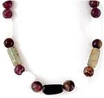 Very Nice Necklace With Agate, Amethyst And Jade Stones