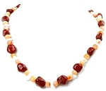 Very Nice Jasper And Agate Necklace