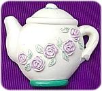 Teapot With Rose's Fridge Magnet
