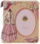 Victorian Ladies Outfit Photo Frame, Peach And Pink