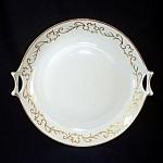 Hutschenreuther Selb Bavaria Gold Trimmed Scrolls Handled Serving Plate