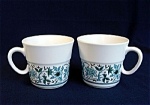 2 Noritake Blue Moon Coffee Mugs Cups