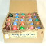 Box C-9 Christmas Colored Light Bulbs Including Swirl Flame