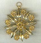 12k Gold Brooch Pendant Setting Finding