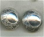 Sterling Silver Flower Pierced Earrings