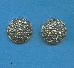 Marcasite 925 Sterling Silver Earrings