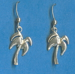Palm Tree 925 Sterling Silver Earrings