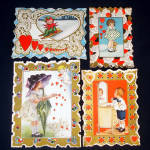 Four Whitney Circa 1920 Valentine Cards
