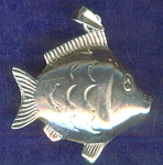 Puff Fish Sterling Silver Pendant