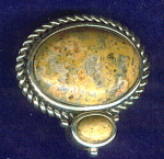 Agate & 925 Sterling Silver Pendant Slide