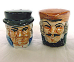 Miniature Toby Head Salt And Pepper Shakers