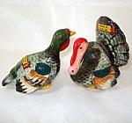 Colorful Turkeys Vintage Figural Salt And Pepper Shakers