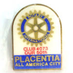 Placentia California Rotary Club Pin Mint Sealed In Package