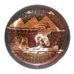Copper Egyptian Spinx And Pyramids Wall Charger Plate