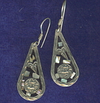 Mexico 925 Sterling Silver & Abalone Earrings
