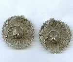 Mexico Silver Wire Sombero Earrings