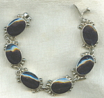 Taxco Mexico 925 Sterling Silver Onyx Bracelet