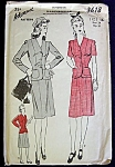 Advance 1940s Jacket And Skirt Suit Pattern Size 16