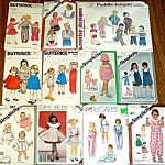 Lot Of 11 Baby And Toddler Clothing Sewing Patterns