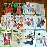 Lot Of 13 Misses Clothing Sewing Patterns Size Small 6 To 8