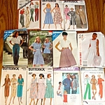 Lot Of 11 Misses Clothing Sewing Patterns Size 8-10-12, Four Uncut