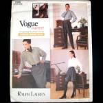 Vogue Ralph Lauren Career Pants Skirt Uncut Sewing Pattern