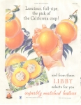 Vintage Ad Libby Peaches 1934 Beautiful Ad