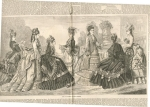 Harper's Bazar Date 1872 Center Fold Dress Page