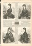 Harper's Bazaar Date 1872 Ad Ladies Tulle Jackets