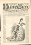 Harper's Bazar Magazine Cover Ladys Summer Ball Dress 1872