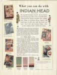 Vintage Ad Indian Head Material 1928 Art Deco