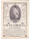 Vintage Ad W. B. Corsets 1904 Nuform