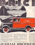 Vintage Ad Saturday Evening Post Graham Brothers Trucks