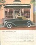Vintage Car Ad Ford V-8 1936's